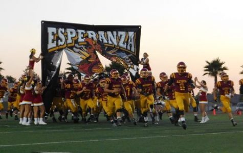 The Aztecs Football team participates in the age-old tradition of Friday Nights Lights.