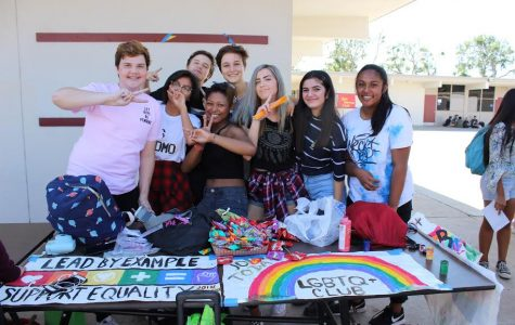 The LGBTQ club participates in EHS Club Rush Week.