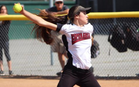 Junior, Chrys Hildebrand back pitching in her starting role for the Esperanza Aztecs.