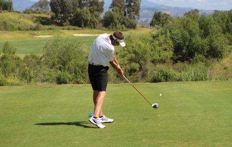 Esperanza golfer showing great form as he follows through.