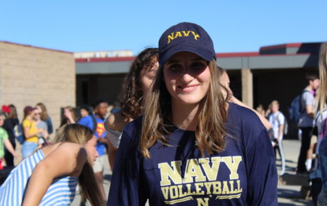 Avery Stowell is all smiles after committing to the Naval Academy for volleyball.
