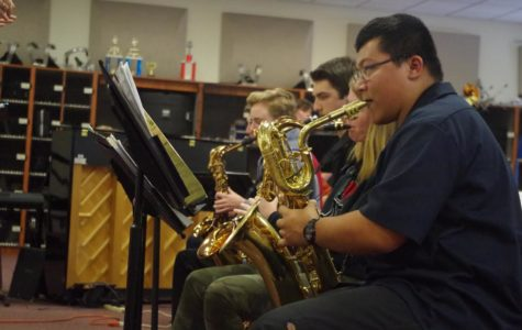 James Sharpe plays a mean Bari Sax in preparation for the upcoming Reno Jazz Festival.