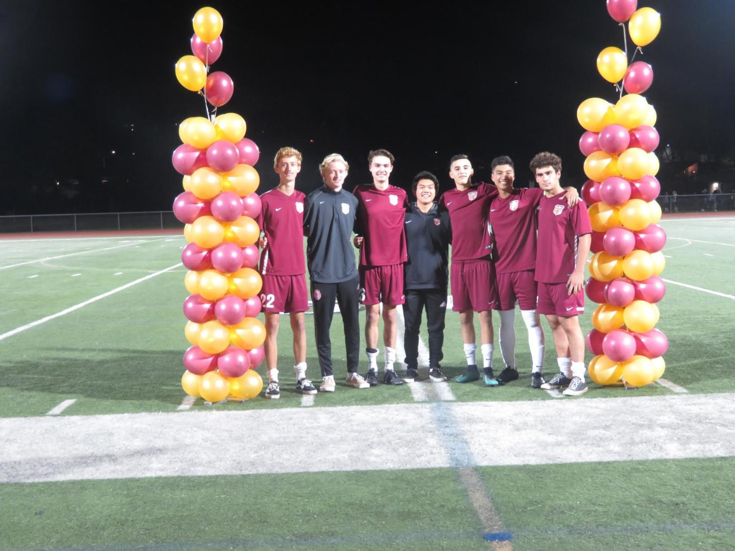 Men's Soccer playing their last league game as well as their senior night on Feb. 1 2019. The boys are excited for their first round of CIF.
