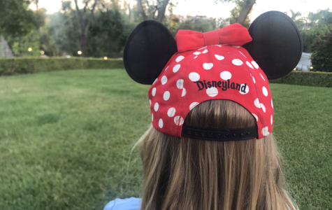Hayden Lee wears a Disney hat while on the way to see Star Wars Land.