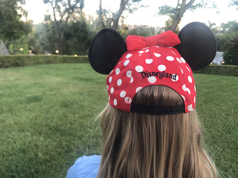 Hayden+Lee+wears+a+Disney+hat+while+on+the+way+to+see+Star+Wars+Land.