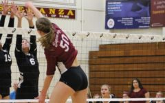 Elyse Stowell making a block against Glendora at the first round of CIF.