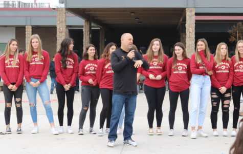 Varsity volleyball coach Isaac Owens sharing his thoughts on becoming CIF champions.