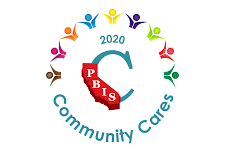 An image of the 2020 Community Cares award symbol. Esperanza was given this award in September for its excellence and execution of Aztec PRIDE both at school and online.