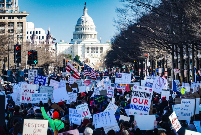 As 2020 was filled with political tension, America continues to fight for political change.
