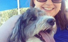 Mrs. Callaghan and her super cute rescue dog, Emmett, posing for a selfie.