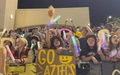 Student section at the football game against YL