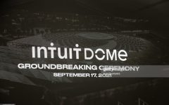 INGLEWOOD, CA - SEPTEMBER 17: The Los Angeles Clippers Ground breaking Ceremony on September 17, 2021, at the Intuit Dome site in Inglewood, CA. (Photo by Jevone Moore/Icon Sportswire via Getty Images)