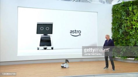 UNSPECIFIED - SEPTEMBER 28: In this screengrab, Senior Vice President, Devices & Services, Dave Limp introduces Amazon Astro during Amazon Devices and Services Announcement on September 28, 2021. (Photo by Jamie McCarthy/Getty Images)